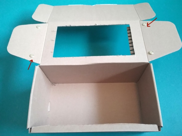 image of the box opened to revel the flaps