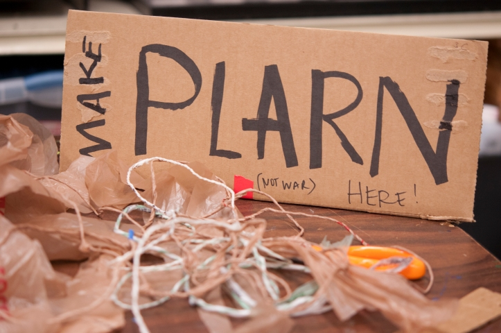 image make plarn not war sign