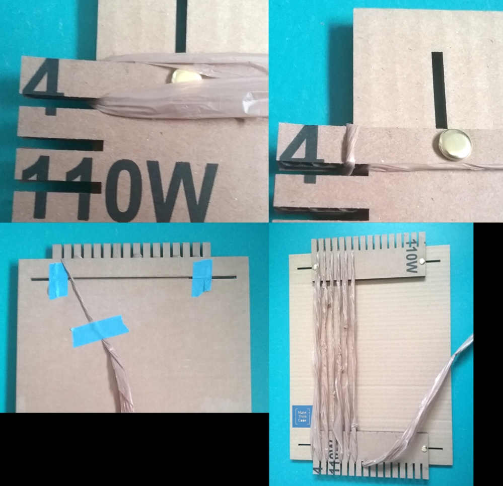 image showing how to warp a loom.