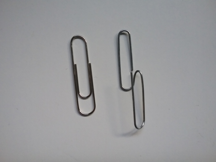 image of the paperclip before and after bending